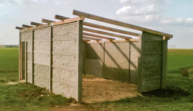 Betonowe Garaże Jedno I Dwuspadowe Elementy Na Zamówienie
